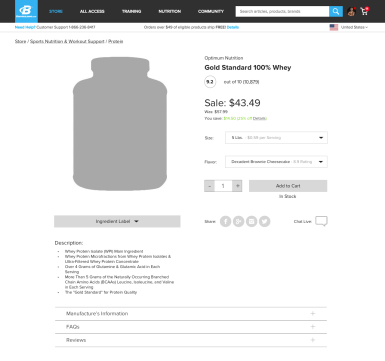 Product Page with Promotions (Desktop)